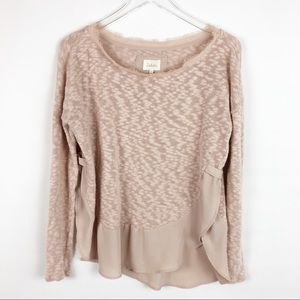 Anthropologie | Deletta Dusty Rose Top Sz M